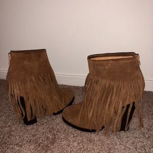 Fall fringe bootie